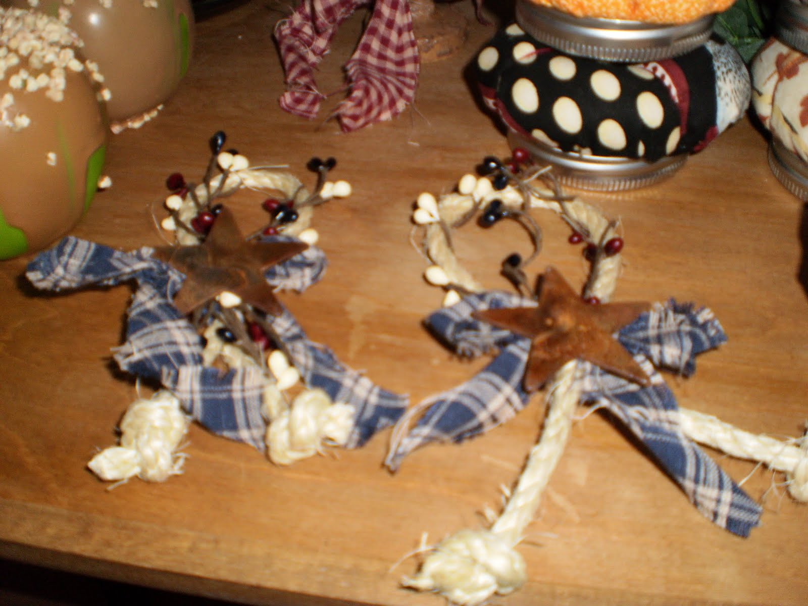 One Simple Country Girl: Homemade Christmas Ornies