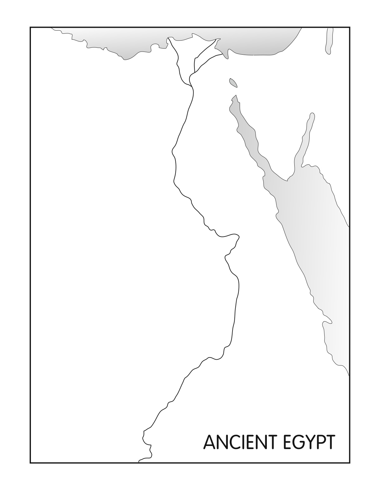 Blank Nile River Map