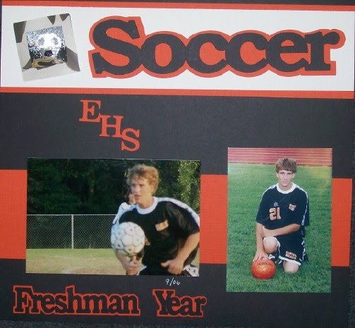 High School Soccer And Lacrosse Scrapbook Layouts Ps I Love You