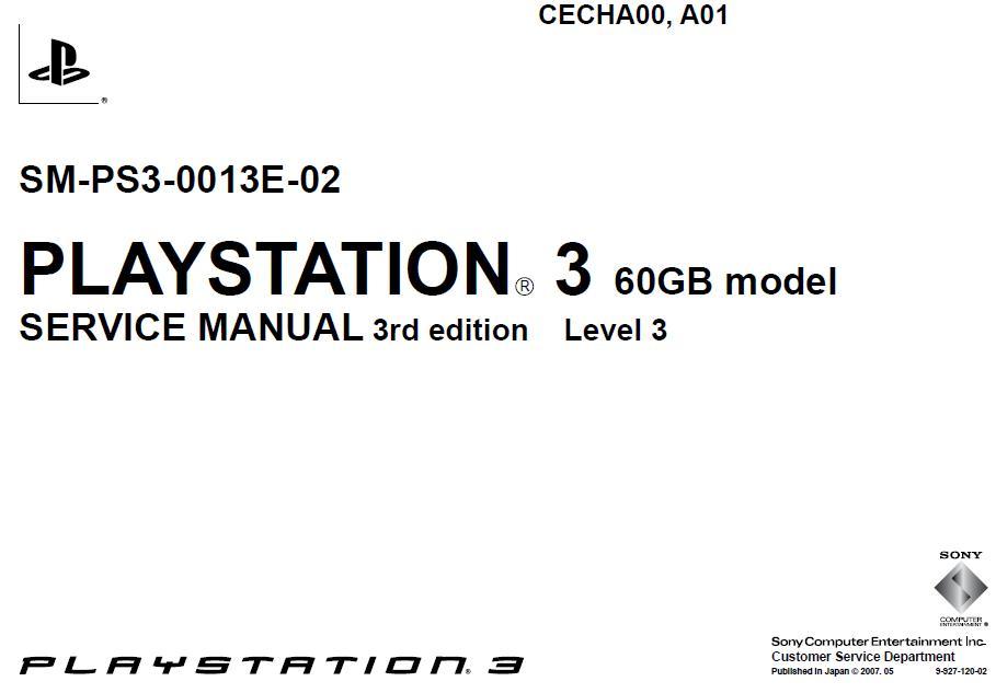 Esquema Elétrico: PlayStation 3 SM-PS3-0013E-02-0