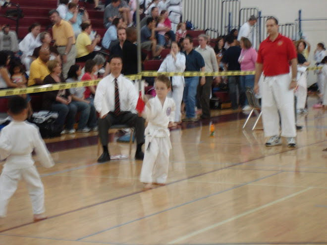 Justin at the karate tournament