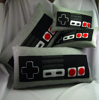 Game Room Decor Controller Pillows Nintendo NES Throw Pillow Fleece Decoration Old School Gaming Video Games