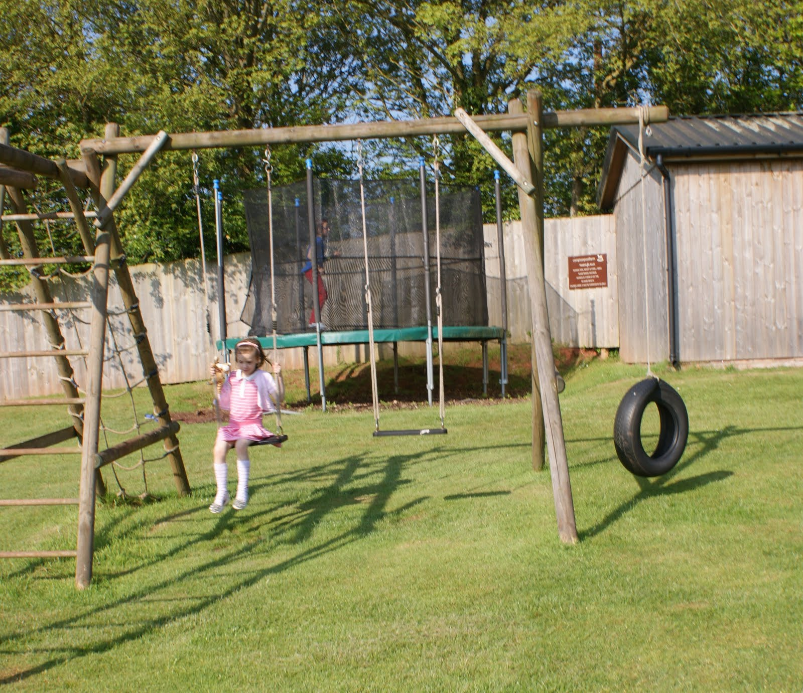 childrens playground at Compton Pool Farm