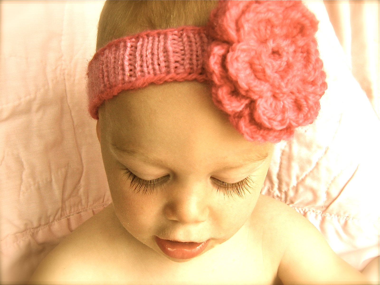 "I'd Rather Be Knitting: ""Spring"" Baby Headband"
