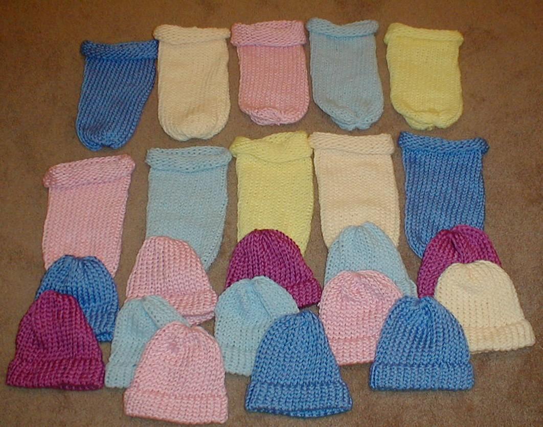 6062233202c Karens Crocheted Garden of Colors  Loom Knitted Preemie Sleep Sacks ...