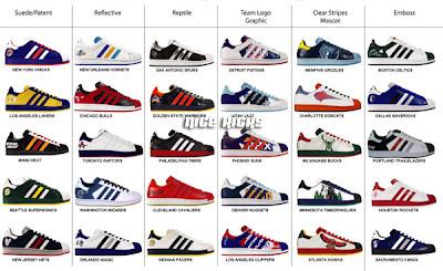 nba adidas superstar entire collection 1 - Adidas - S�perstar ,Adidas S�perstar Modelleri