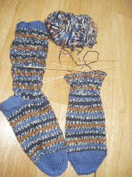 Socks nearly done