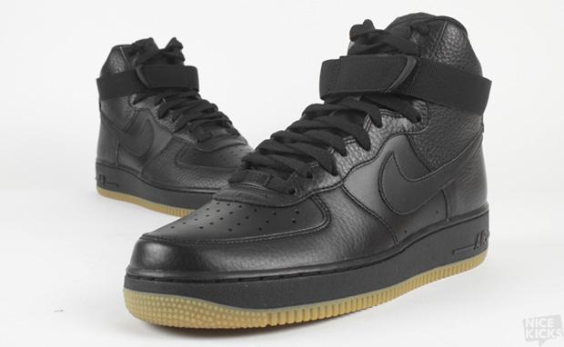Rch89 Black Gum Nike Air Force 1 Hi