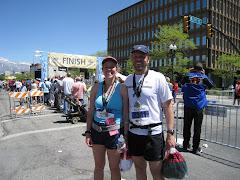 Marathon running mama
