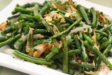 Kalyn's Kitchen®: Garlic-Roasted Green Beans with Shallots ...