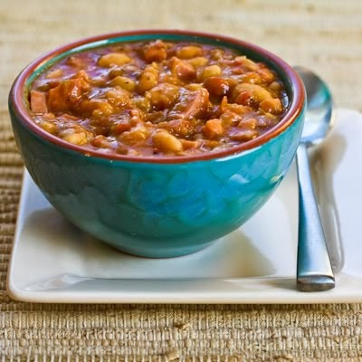 Kalyn's Kitchen®: Navy Bean and Refried Bean Stew with Ham, Leeks ...