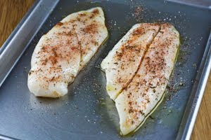 Spice-Rubbed and Roasted Fish Fillets from KalynsKitchen.com