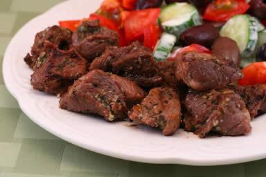 Lamb Souvlaki: Grilled Lamb Cubes Greek Style