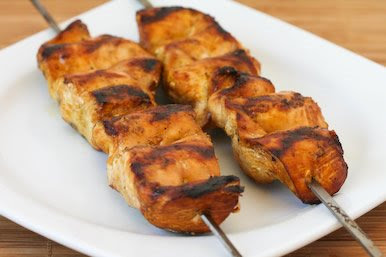 Original Photo for Grilled Chicken Kabobs with Asian Marinade found on KalynsKitchen.com