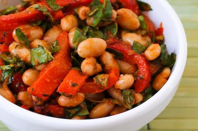 White Bean and Red Pepper Salad