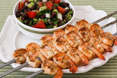 Chipotle Grilled Shrimp with Black Bean Salsa