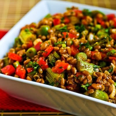 Kitchen®: Recipe for Farro Salad with Asparagus, Red Bell Pepper ...