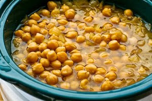 Garbanzo Bean / Chickpea Soup with Garlic, Sumac, Olive Oil, and Lemon from KalynsKitchen.com
