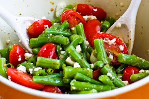 Green Bean, Tomato, and Feta Salad Oreganato found on KalynsKitchen.com