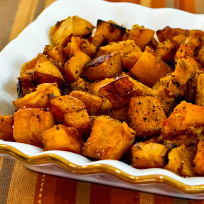 Roasted Butternut Squash with Rosemary and Balsamic Vinegar found on KalynsKitchen.com
