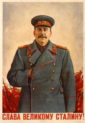 Плакат Слава великому Сталину!