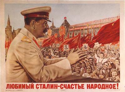 Плакат Любимый Сталин - счастье народное!