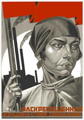 Плакат Раскрепощенная женщина - строй социализм!