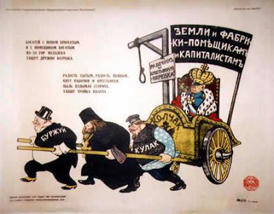 Земли и фабрики - помещикам и капиталистам. Рабочим и крестянам - веревка.