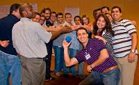 Uma das dinâmicas de grupo - One of the group activities