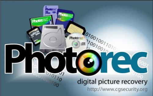 Recover your lost photos with Photorec