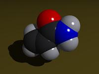 Modelo molecular de acrilamida