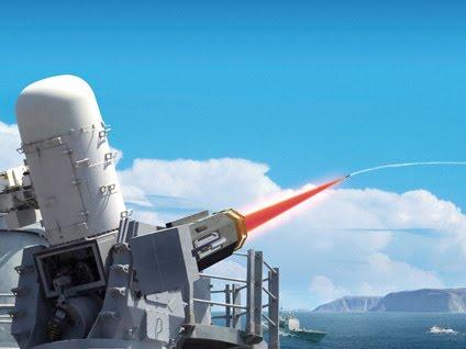 Un cañón láser Raytheon.