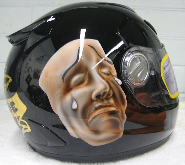 """""""da Triggaman' Passion"""" Laugh Cry Helmet"""