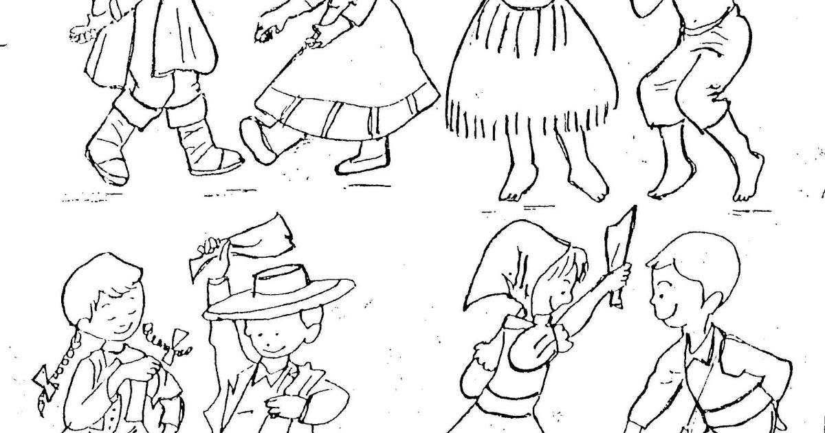 Dibujo De Chilena Para Colorear: Mil Ideas: Bailes Tipicos Chilenos