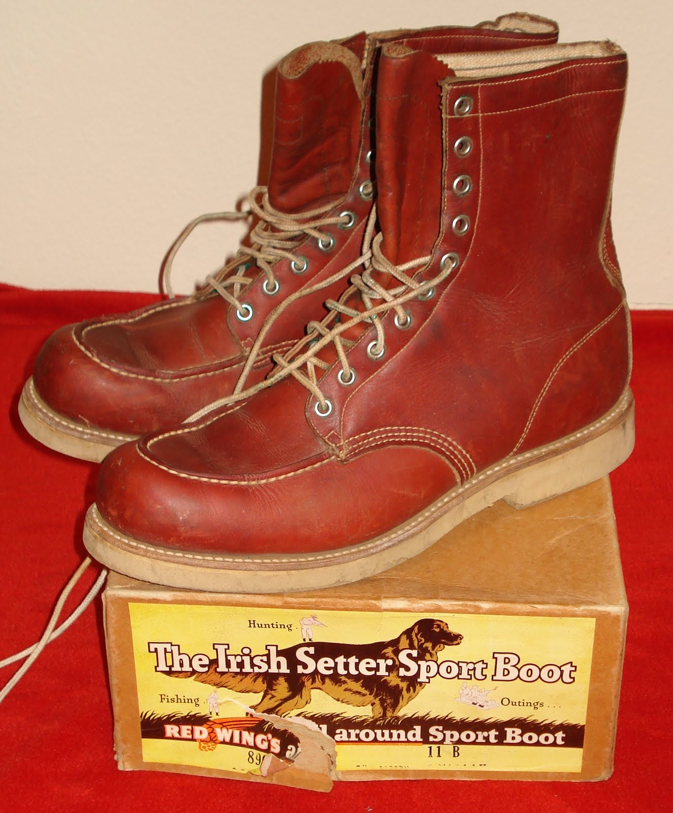 ccfa0f1f542b6 Nostalgia on Wheels: 1950's Red Wing Irish Setter Sport Boots