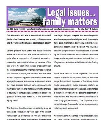 Legal Updates And Free Legal Information Family Code Philippines