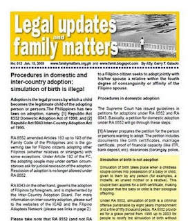 Legal updates and free legal information family code philippines adoption and simulation of birth yadclub Images