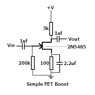 Jim Cox Effects and Mods: My Simple FET Booster