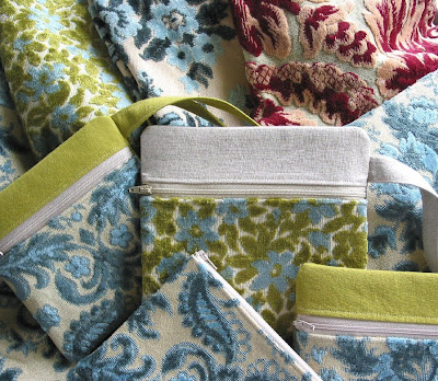 Niesz Vintage Home And Fabric Vintage Cut Velvet Fabrics And Pouches