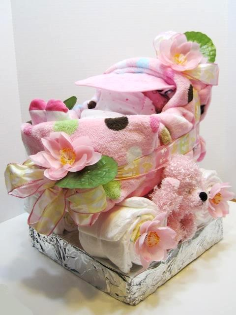 Etsy Russian Team Freebie From Beautyland Stroller Diaper Cake