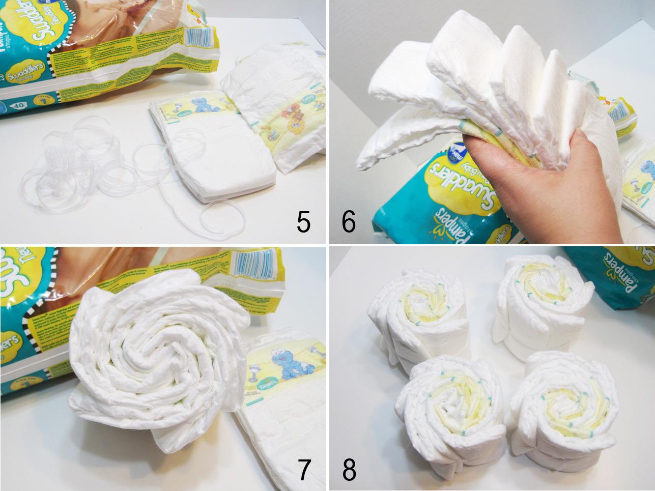 Baby Stroller Diaper Cake Tutorial