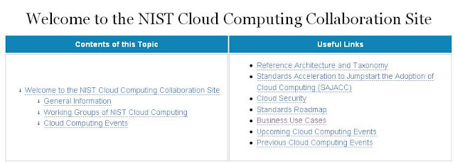NIST Cloud Computing Collaboration Twiki Launches