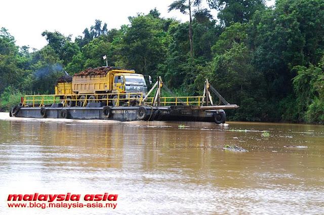 Barge at Kinabatangan River