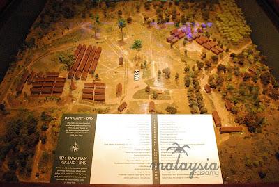 Death Camp model at Sandakan War Memorial Park Sabah