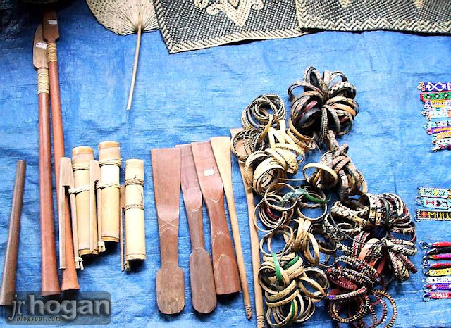 Bracelets made by Penan people