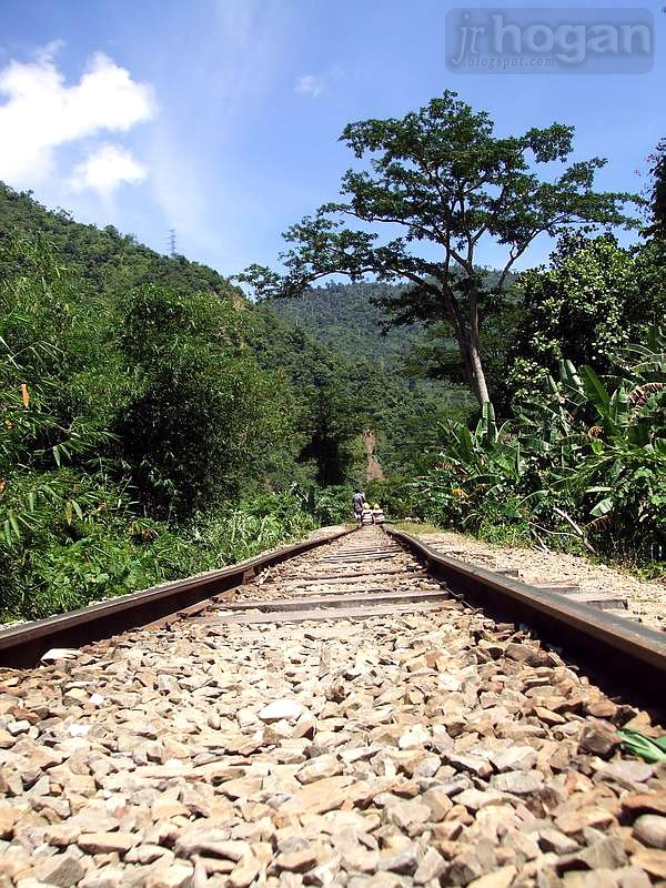 Train tracks in Tenom