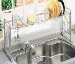 My so called japanese life 20 tips for living in small spaces - Dish racks for small spaces set ...