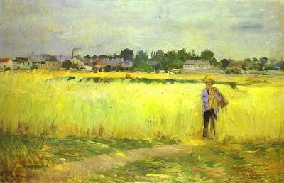 "Berthe Morisot: ""Campos en Gennevilliers"" (1875). París."