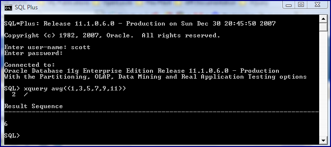 Inspired By Actual Events Oracle Sqlplus Xquery Command