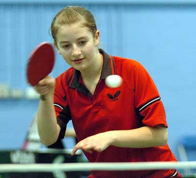 Girls playing ping pong - 4 9